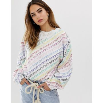 Abercrombie & Fitch relaxed sweatshirt with rainbow logo