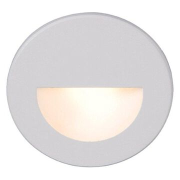 WAC Lighting LEDme Round Indoor or Outdoor Step and Wall Light, White