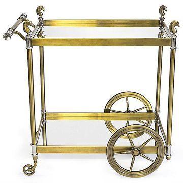 Cheval Bar Cart by Jonathan Adler