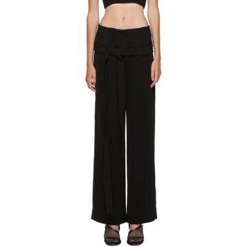 Dion Lee Black Interchange Belted Trousers