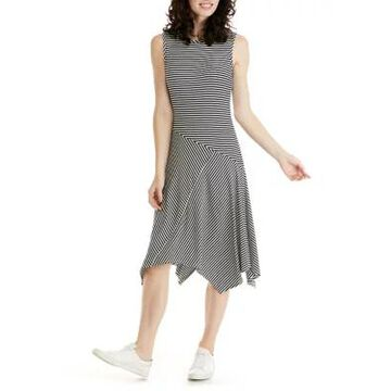 Ronni Nicole Women's Sleeveless Ribbed Knit Asymmetric Hem Dress -