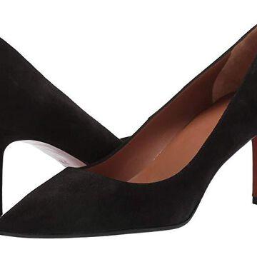 Aquatalia Melina Suede (Black) Women's Shoes