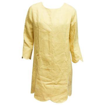 Emanuel Ungaro Yellow Polyester Dresses