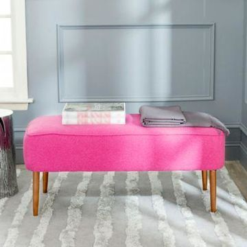 Safavieh Levi Bench in Berry