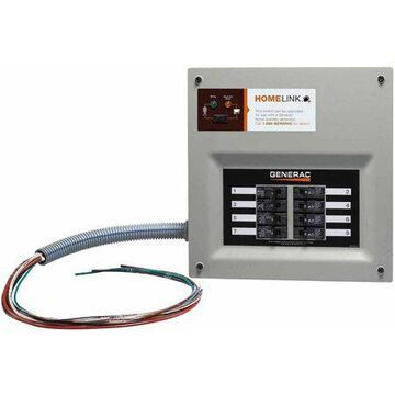 Generac 6852- HomeLink Upgradeable Manual Transfer Switch, 8 Circuits