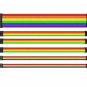Thermaltake AC-049-CNONAN-A1 TtMod Sleeve Cable (Cable Extension) Rainbow