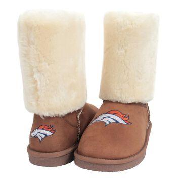 Women's Cuce Tan Denver Broncos Fan Boot