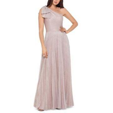 Xscape One-Shoulder Allover-Glitter Gown