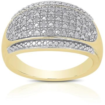 Finesque Sterling Silver 1/5ct TDW Diamond Ring
