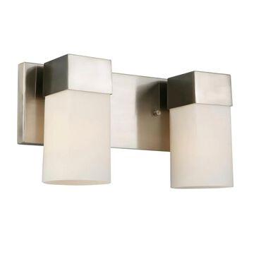 EGLO Ciara Springs 2-Light Nickel Transitional Vanity Light | 202862A