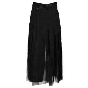 Junya Watanabe Pleated Wrap Tulle Maxi Skirt