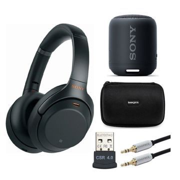 Sony WH-1000XM3 Wireless Noise-Canceling Headphones (Black) with XB12 Speaker