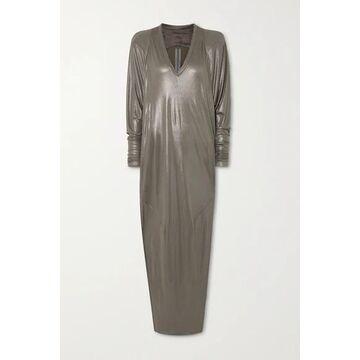 Rick Owens - Metallic Jersey Gown - Gray green