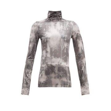 Acne Studios - Eryn Tie-dye Jersey Top - Womens - Black Multi