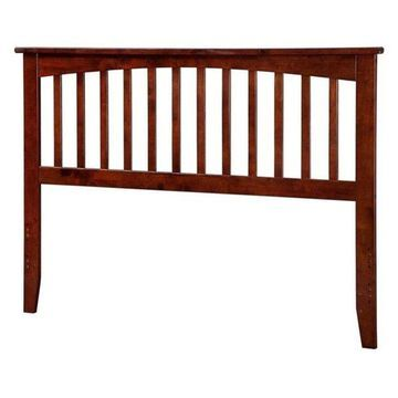 Atlantic Furniture Mission Queen Spindle Headboard, Walnut
