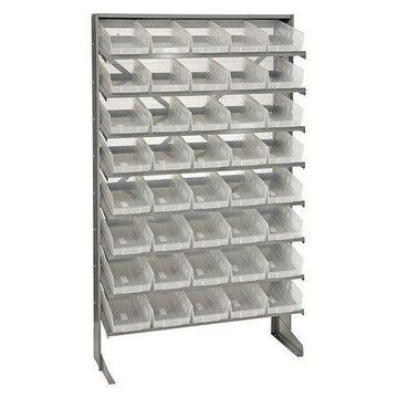 QUANTUM STORAGE SYSTEMS QPRS-102CL Pick Rack,Overall 12'' D,Clear