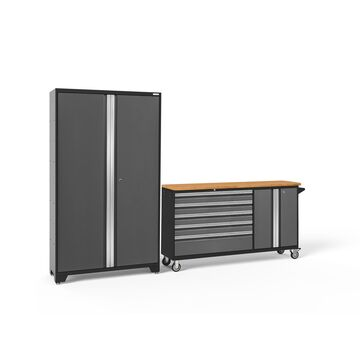 NewAge Products Bold Series 3.0 2-Pc. Cabinet Set - Gray