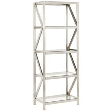 iNSPIRE Q Brynn Brushed Nickel Bookcase