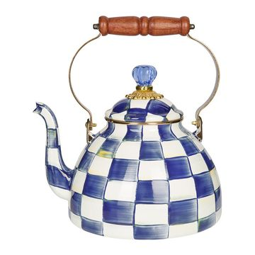MacKenzie-Childs - Royal Check Tea Kettle - Large