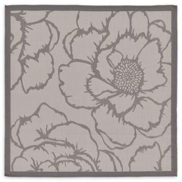 Unique Loom Rose 6' x 6' Indoor/Outdoor Area Rug in Grey