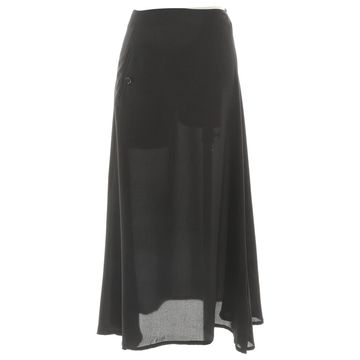 Yohji Yamamoto Black Silk Skirts