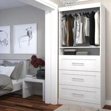 Pur by Bestar 36-inch Storage Unit with 3-drawer Set