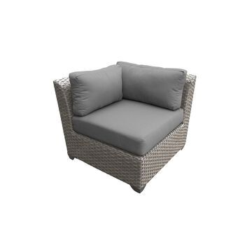 TK Classics Florence Grey Resin Wicker/ Aluminum Corner Sofa