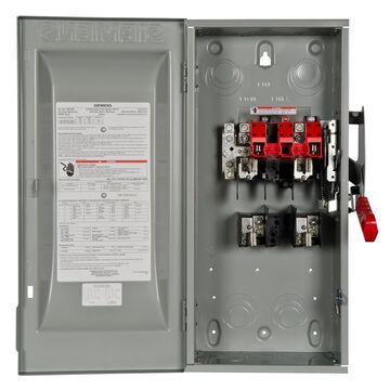 Siemens 100-Amp 2-Pole Fusible Heavy-Duty Safety Switch Disconnect in Gray