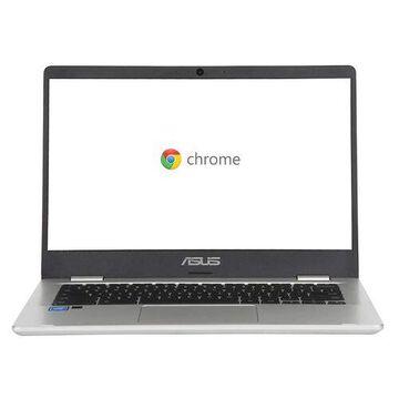 ASUS Chromebook C423NA-IH02 90NX01Y1-M00330 14-Inch Laptop - 1920 x 1080 - 4 GB RAM - Intel Celeron N3350 - 1.10 GHz - 32GB eMMC - Chrome OS - Silver