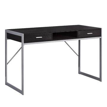 Monarch Two Tone Computer Desk, Brown