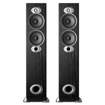 Polk Audio RTiA5 Compact High Performance Floorstanding Speaker - Pair (Black)