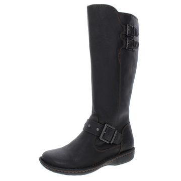 B.O.C. Womens Oliver Leather Mid-Calf Riding Boots