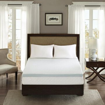 Flexapedic by Sleep Philosophy 2-inch Gel Memory Foam Anti-microbial and Dust Mites Resistant Mattress Topper with Non-skid Back