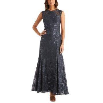 R & M Richards Long Sequin Gown