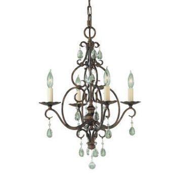 Feiss Mocha Bronze 4-Light Chandelier