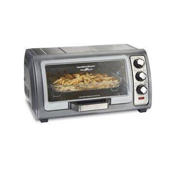 Hamilton Beach Sure Crisp Air Fryer Toaster Oven with Easy Reach Door, 6 Slice Capacity, Stainless Steel, 31523