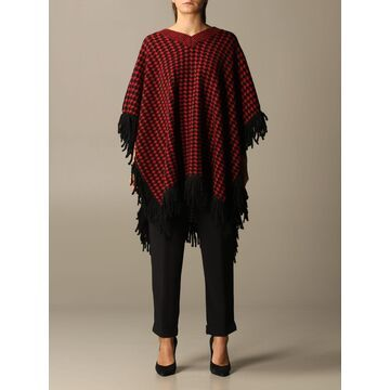 Manila Grace Cape With Macro Houndstooth Bicolor