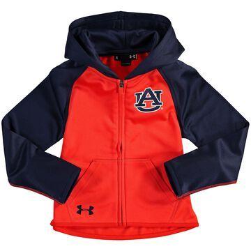 Auburn Tigers Under Armour Girls Preschool Full-Zip Fleece Sweatshirt - Orange
