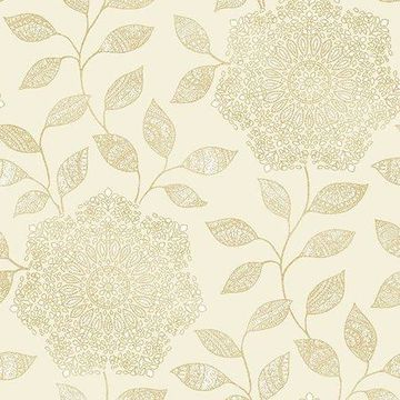 Kenneth James Shirazi Champagne Bohemian Floral Wallpaper