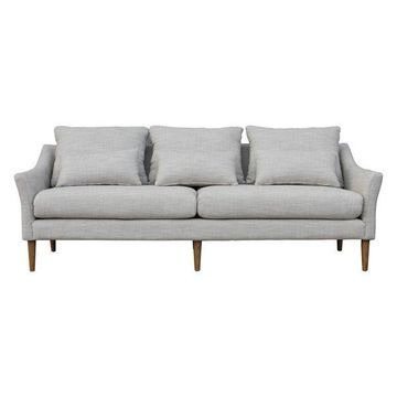 Moes Home Collection FN-1034 Calista Standard Sofa, Light Gray
