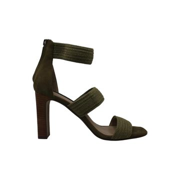 Steven by Steve Madden Womens Jelly Fabric Open Toe Ankle Strap Classic Pumps