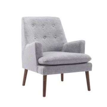 Porthos Home Gaelen Accent Chair, Fabric Upholstery, Rubberwood Legs