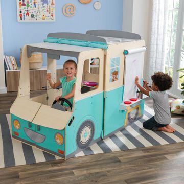 KidKraft Wondervan Wooden Food Truck & Creative Play Center Box 2 of 2