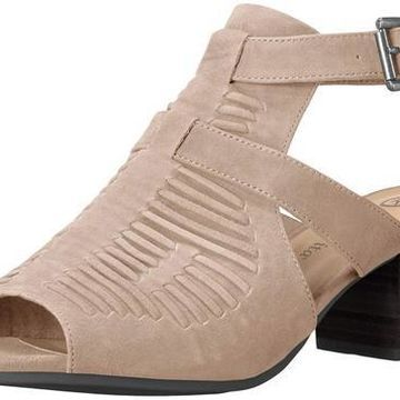 Bella Vita Womens Finley Peep Toe Casual Mule Sandals