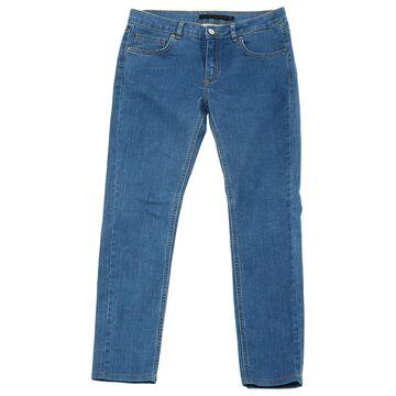 Victoria Beckham Blue Cotton Jeans