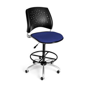 OFM Stars Series Model 326-DK Armless Fabric Swivel Task Chair and Drafting Kit, Royal Blue