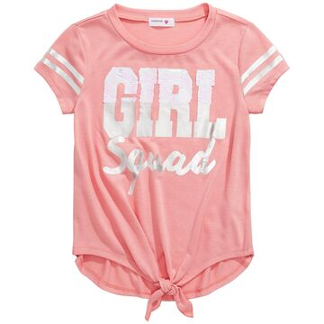 Big Girls Tie-Front Flip Sequin T-Shirt
