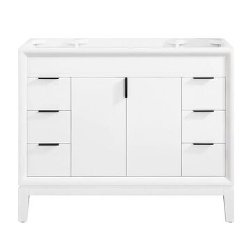 Avanity Emma 42-in White Bathroom Vanity Cabinet   EMMA-V42-WT