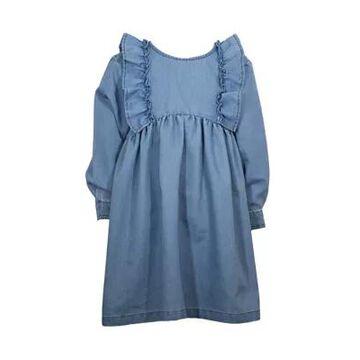 Bonnie Jean Girls' Toddler Girls Denim Ruffle Dress - -