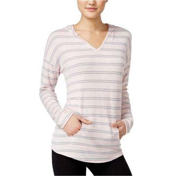 Hippie Rose Womens Striped Hoodie Sweatshirt